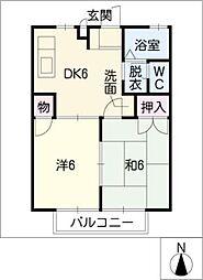 コーポエルムI・II[2階]の間取り