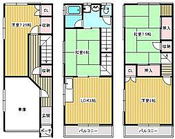 [一戸建] 大阪府大阪市住之江区北加賀屋1丁目 の賃貸【/】の間取り