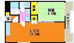 ブルク奥田[3階]の間取り