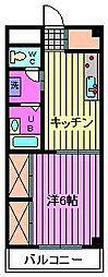 メゾンクレール[302号室]の間取り