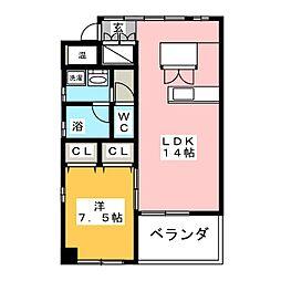 Sakura Garden東刈谷A棟[4階]の間取り