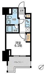JR京浜東北・根岸線 横浜駅 徒歩8分の賃貸マンション 11階1Kの間取り