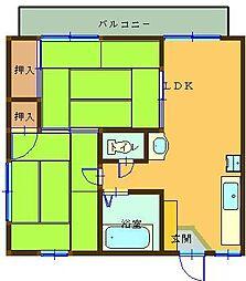 岡田ハイツA[207号室]の間取り