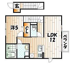 ミサキロード[2階]の間取り