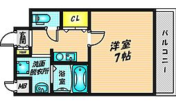GOOD LIFE岩田 7階1Kの間取り