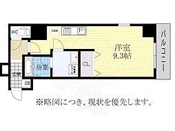 SJSakurayama 6階ワンルームの間取り