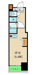 JR山手線 新宿駅 徒歩7分の賃貸マンション 3階ワンルームの間取り