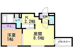 ミルフィーユ 4階1LDKの間取り
