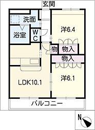 来夢ガーデン[3階]の間取り
