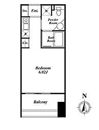クレジデンス神谷町(旧:神谷町デュープレックスC's)[302号室]の間取り