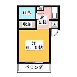 サンライフL21[4階]の間取り