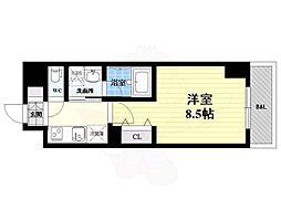 名古屋市営桜通線 国際センター駅 徒歩10分の賃貸マンション 10階1Kの間取り