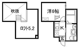 ウエスト9ミラー1号館[1階]の間取り