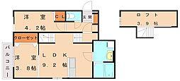 メゾンソレイユ3[1階]の間取り