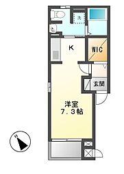 フェイバーJ・O−III[3階]の間取り