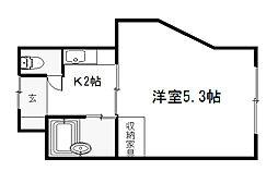 マンション サンウォーター[305号室]の間取り