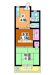 栄コーポ[303号室]の間取り