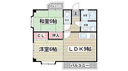 兵庫県神戸市灘区高徳町1丁目の賃貸マンションの間取り