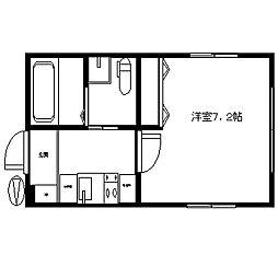 JR総武線 東中野駅 徒歩6分の賃貸マンション 3階1Kの間取り