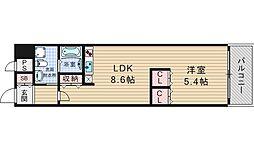 南堀江アパートメント シエロ[11階]の間取り