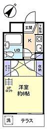 ジュネパレス津田沼第31[1階]の間取り