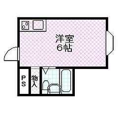 昭和グランドハイツ成育[4階]の間取り