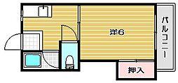 ハイツ北大手[1階]の間取り