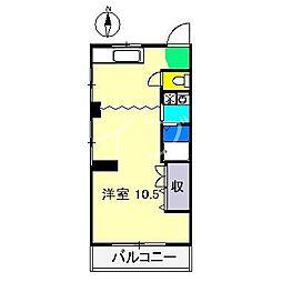 コーポ紫陽花[2階]の間取り