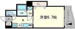 ラグゼ住之江[2階]の間取り