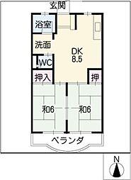 大樹ハイツ[3階]の間取り
