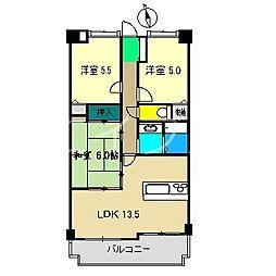 アルファステイツ高須[9階]の間取り