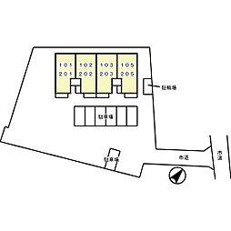 メゾン・プランドール[105号室]の外観