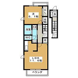 LaLa House キノウチ[2階]の間取り