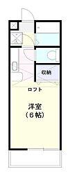 エメラルド水戸弐番館[201号室]の間取り