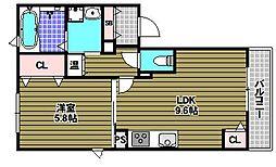 シャロームII[2階]の間取り