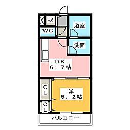 WINDOMII[3階]の間取り