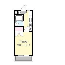 シモンズ栗木台[1階]の間取り