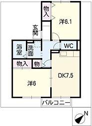 セジュール山神戸[1階]の間取り