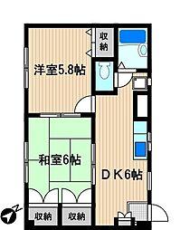 メゾン新川崎[1階]の間取り