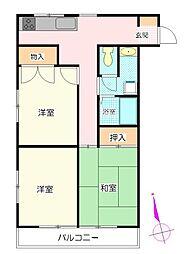 東松山マンション[8階]の間取り