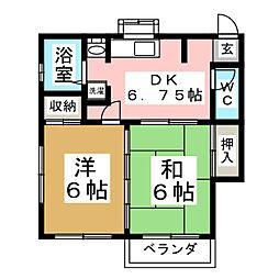 コーポ1・3・5[2階]の間取り