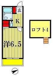 WING北松戸[2階]の間取り