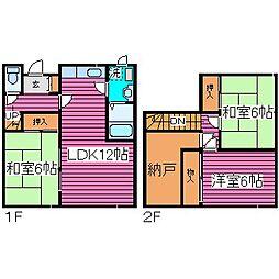 [一戸建] 北海道札幌市東区北五十条東13丁目 の賃貸【/】の間取り