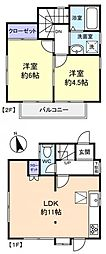 [一戸建] 千葉県船橋市飯山満町2丁目 の賃貸【/】の間取り