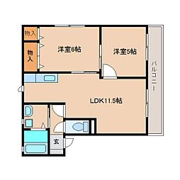 静岡県静岡市清水区高橋2丁目の賃貸アパートの間取り