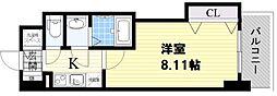 ラグゼ新大阪サウス 2階1Kの間取り