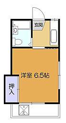 土方コーポ[2階]の間取り