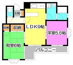 第1YSハイツ[2階]の間取り