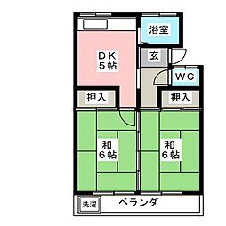コーポラス伊藤[1階]の間取り