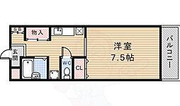スマート花屋敷 1階1Kの間取り
